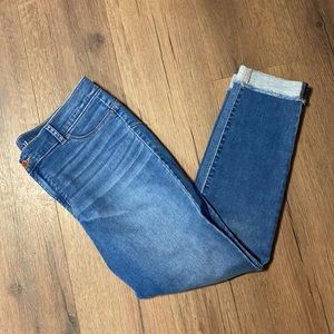 Juicy Couture Cuffed Raw Hem Cropped Jeans